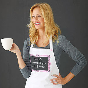 Personalised 'Speciality' Apron - gifts for mothers