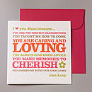 'I Love You Mum Because…' Card