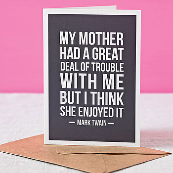 'Motherly Love' Mother's Day Card
