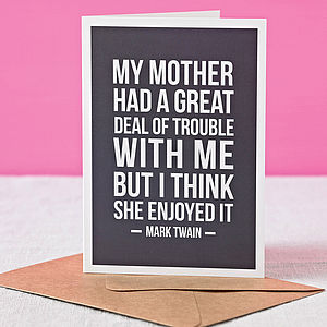 'Motherly Love' Funny Mother's Day Card - mothers day cards