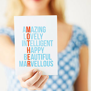 'Amazing' Mother's Day Card - view all mother's day gifts