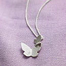 Flutterby Silver Necklace