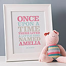 Personalised 'Once Upon A Time' Print