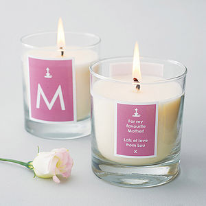 Personalised Candle - gifts for mothers