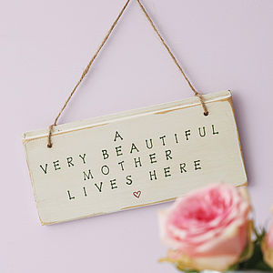 Personalised Mother Sign - gifts for new mums