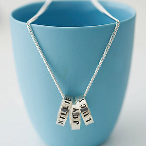 Personalised Silver Hoop Pendant Necklace - gifts for mothers