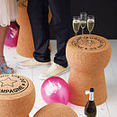 Champagne, Cava + Prosecco Cork Side Tables