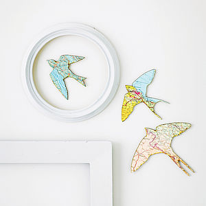 Set Of Three Flying Birds - gifts for the home