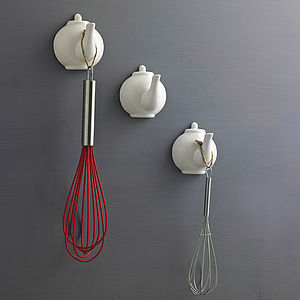 Ceramic Teapot Spout Hook - for foodies