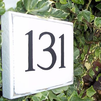 Personalised Vintage Style House Number Sign