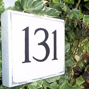 Personalised Vintage Style House Number Sign - room decorations