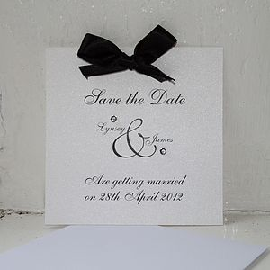Diamante Save The Date Card - save the date cards