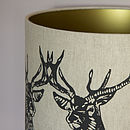 Stag Duo Handmade Lampshade
