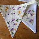 Wedding Bunting With Floral Hearts