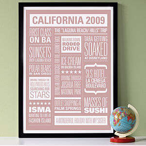 Personalised Memories Print - for him