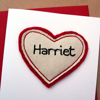 Personalised Handmade Heart Anniversary Card
