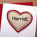 Name Heart Personalised Anniversary Card