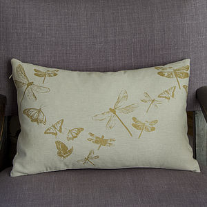 Dragonflies And Butterflies Cushion - cushions