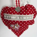 'For Mum' Fabric Heart