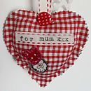 Red Gingham Mother's Day Heart