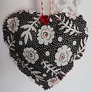 Reverse of red gingham heart