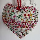 Reverse of red polka dot heart