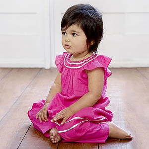 Roma Three Piece Indian Girl's Outfit - flower girl fashion