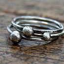 Handmade Rustic Silver Stacking Rings