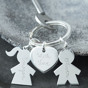 Personalised Sterling Silver Key Ring - jewellery