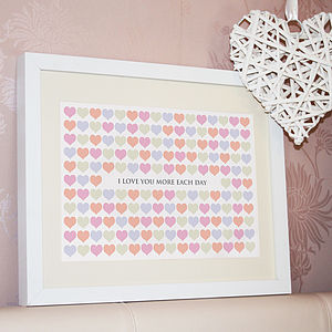 Personalised Love Hearts Print