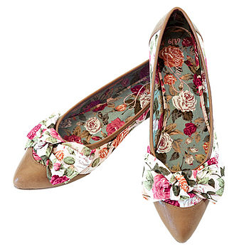 Florence Floral Pointed Flat Shoes *RRP £60*