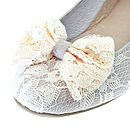 Willow Lace Bow Ballerina Shoes *RRP £60*