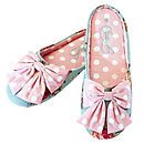 Ella Spotty Bow Mule Slippers