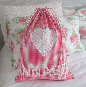 Personalised Gingham PE Or Ballet Bag - girls' bags & purses