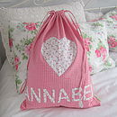 Personalised Gingham PE Or Ballet Bag