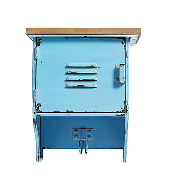 Metal Wall Cabinet With Hook By Nordal