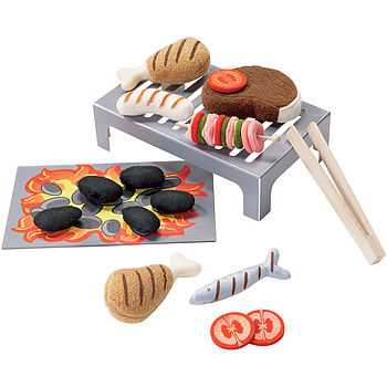 Children's BBQ Grilling Play Food Set