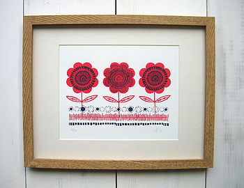 Poppy Bloom Limited Edition Screen Print
