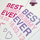 Personalised 'Best Mummy Ever' Gift Tag