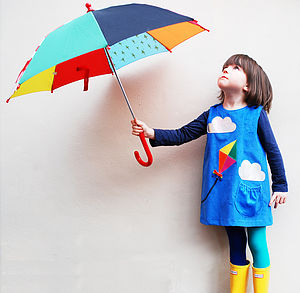 Girls Kite Dress - rainbows