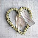 Personalised Parchment Rose Heart Hanger