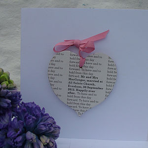 Personalised Secret Message Wedding Card