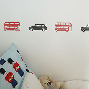 London Bus And Taxi Wall Stickers - living & decorating