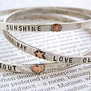 Sterling Silver Embellished Bangle