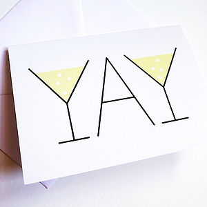 'YAY' Congratulations Card - wedding, engagement & anniversary cards