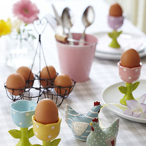 Ceramic Tulip Egg Cup - tableware