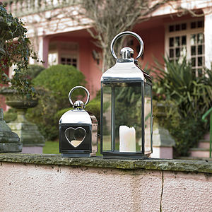 Stainless Steel Lantern - outdoor decorations