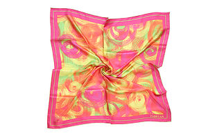 Swirls Silk Scarf - gifts for her