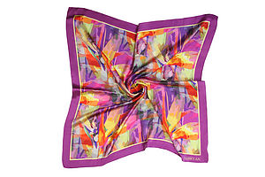 Bird Of Paradise Silk Scarf - scarves & gloves