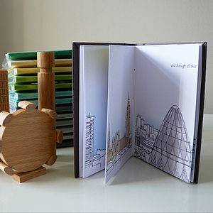 A Walk Through London Handmade Book